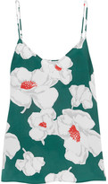 Equipment Layla Floral-print Washed-silk Camisole - Teal