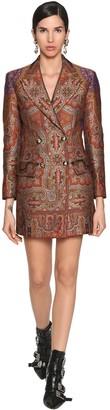 Etro Wool Jacquard Brocade Jacket Dress