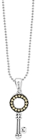 Lagos 18K Yellow Gold and Sterling Silver Beloved Circle Key Pendant Necklace, 16