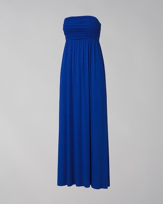 Soma Intimates Bandeau Maxi Dress With Built-In Bra