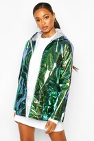 Boohoo Erin Holographic Mac green