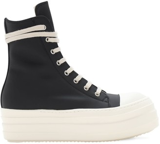Rick Owens 40mm Double Bumper High Top Sneakers