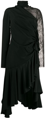 Philosophy di Lorenzo Serafini Lace Sleeve Asymmetric Dress