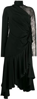 Philosophy di Lorenzo Serafini lace sleeve asymmetric dress