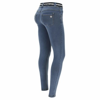 Freddy N.O.W. Pants Denim-Effect Slim fit Tapered Leg Trousers - Clear Jeans-Yellow Seams - Medium