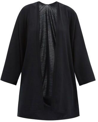 Wolford Aurora Longline Wide-sleeve Wool Cardigan - Black