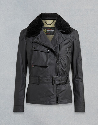 Belstaff SAMMY MILLER WAXED JACKET WITH SHEARLING Black UK 4 /