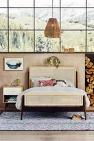 Anthropologie Patchwork Cane Bed