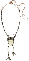 Valentino Oxidized Silver-Plated Crystal Necklace