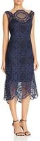 Tracy Reese Crochet Lace Midi Dress