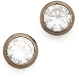 Kenneth Jay Lane Bezel Stud Earrings
