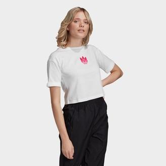 adidas Women's Adicolor 3D Trefoil Crop T-Shirt