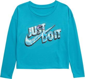 Nike Just Do It Glitter Graphic Boxy Tee