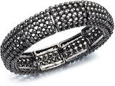 Alfani Hematite Tone Shot Bead Stretch Bracelet