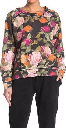 Nicole Miller Floral Print Sweatshirt