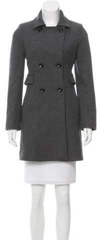 Cinzia Rocca Virgin Wool Double-Breasted Coat