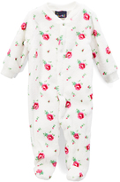 Sweet & Soft White Roses Fleece Footie - Infant