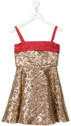 Little Bambah Metallic Embossed Princess Dress