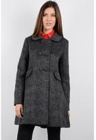 Molly Bracken Leopard Print Coat with Bow Back