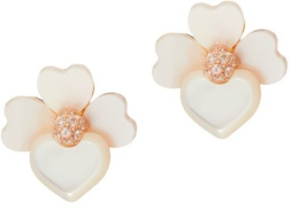 Kate Spade Precious Pansy Mother-Of-Pearl Flower Stud Earrings