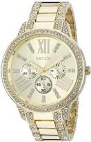 Kensie Women's Quartz Metal and Alloy Casual Watch, Color:Gold-Toned (Model: KEN5157)