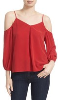 Joie Women's Eclipse Silk Cold Shoulder Top