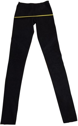 Rick Owens Black Leather Trousers