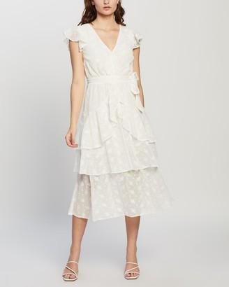 MinkPink Ashlyn Frill Midi Dress