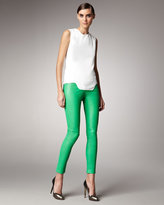 Mugler Leather Skinny Pants
