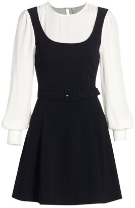 Cinq à Sept Leila Long-Sleeve Skater Dress