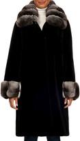 Gorski Chinchilla Wing-Collar Mink-Fur Short Coat