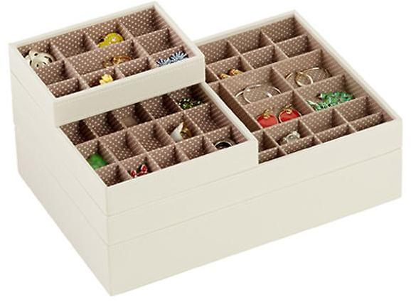 Container Store Supersize Lidded StackerTM Vanilla