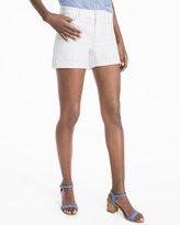 White House Black Market Tonal Embellished Hem Shorts