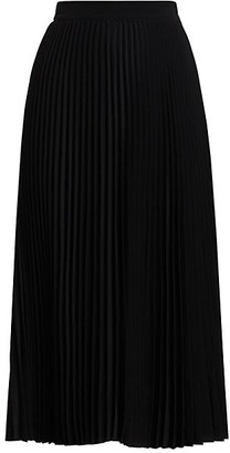 Co Essentials Elastic-Waist Pleated Skirt