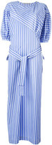 Ermanno Scervino oversized striped belted dress - women - Cotton - 40