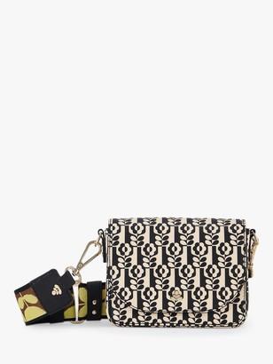 Orla Kiely Vera Mini Cross Body Bag, Onyx