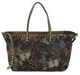 Valentino Studded Butterfly-Print Tote