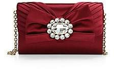 Dolce & Gabbana Women's Micro Embellished-Bow Satin Crossbody Bag