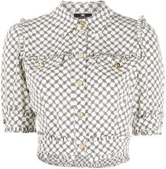 Elisabetta Franchi Graphic-Print Cropped Shirt