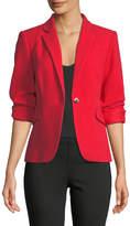 Vince Camuto Grid-Knit One-Button Blazer Jacket
