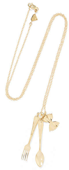 Alison Lou Mama Mia 14-karat Gold Necklace