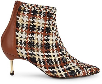 Souliers Martinez Mahon Braided Leather Booties