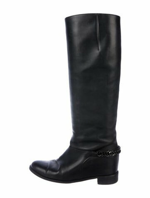 Christian Louboutin Cate Leather Riding Boots Black