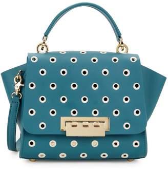 Zac Posen Eartha Top Handle Embroidered Polka Dot Crossbody Bag