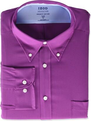Izod Men's Dress Shirt Regular Fit Stretch FX Cooling Collar Check