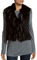 Haute Hippie Rabbit Fur Vest