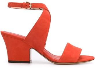 Salvatore Ferragamo Sheena cross-strap block-heel sandals
