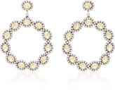 Dannijo Isabelle Brass and Crystal Hoop Earrings
