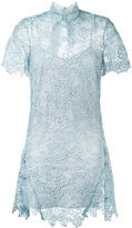 Self-Portrait lace dress - women - Polyester/Spandex/Elastane - 12