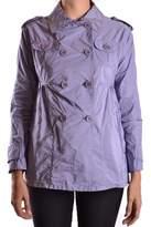 Aspesi Women's Purple Polyamide Trench Coat.